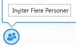 Skjermbilde av ikonet for invitering av flere personer fra direktemeldingsvinduet