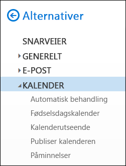 Kalenderalternativer for Outlook på nettet