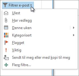 Filtrer e-post