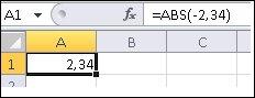 Formel vises i formellinjen