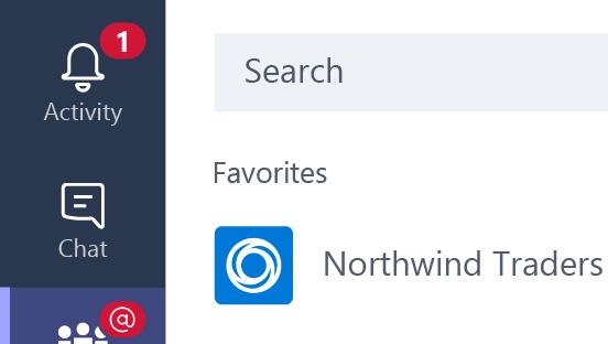 Aktivitet-knappen som viser én melding