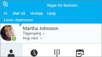 Komme i gang med Skype for Business 2016