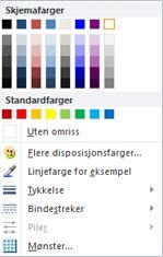 WordArt formateringsalternativer for figuromriss i Publisher 2010