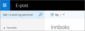 Båndet ser slik ut i Outlook Web App