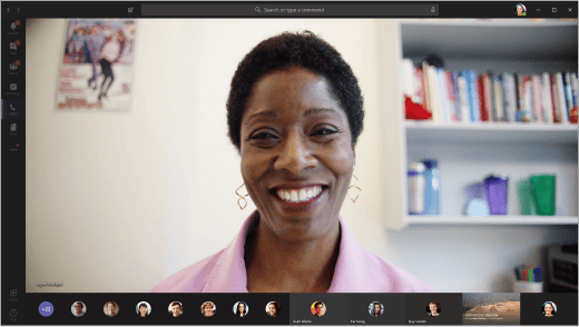 Presentatør på video i et Microsoft Teams møte