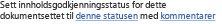 Angi innholdsgodkjenningsstatus for dokumentsett
