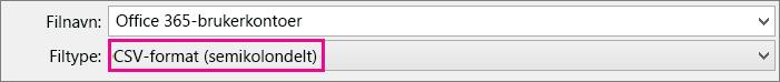 Et bilde av hvordan du lagrer en fil i Excel i CSV-format