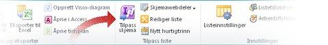 Tilpasse skjemaer med Infopath