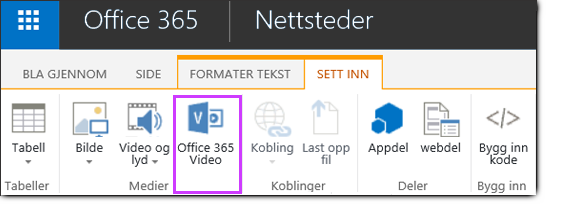 Office 365 Video bygge inn en Video