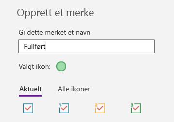 Oppretting av egendefinert kode i OneNote for Windows 10