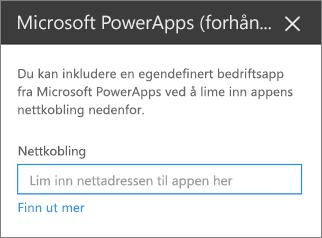 Egenskaps ruten Power apps