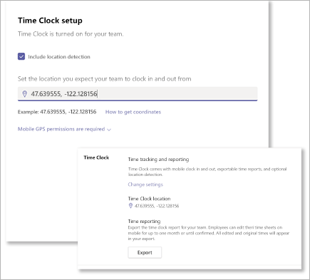 Finne koordinater for Microsoft Teams Skift tids klokke