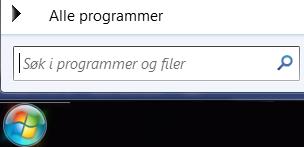 Skjermbilde av søk i programmer