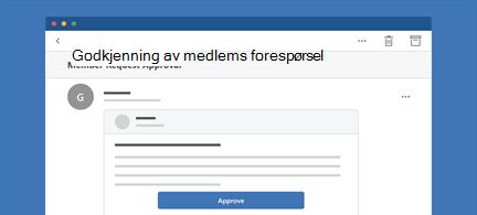 Viser Outlook-melding