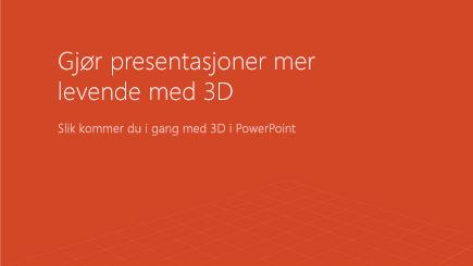 Skjermbilde av en 3D-forside for PowerPoint-mal