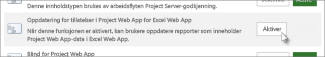 Tillatelse for Project Web App for oppdatering av Excel Online