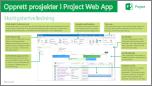 Opprette prosjekter i hurtigstartveiledningen for Project Web App