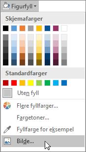 Skjermbilde av Bildefyll-alternativet fra Figurfyll i Format-fanen i Publisher.