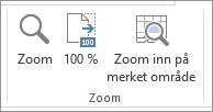 Zoom-gruppen i Visning-fanen