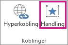 Handlinger-knappen i koblinger-gruppen