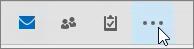 Mer-knappen i Outlook-navigasjonsruten