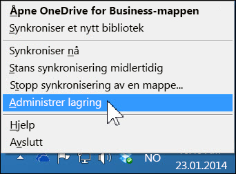 Administrer lagringsplass i OneDrive for Business