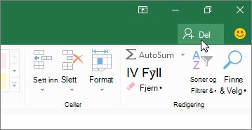 Markør som klikker del-ikonet