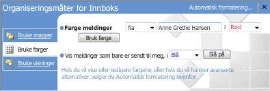 Organiser-ruten i Microsoft Office Outlook 2007