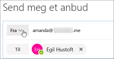 Velg fra-knappen til å vise aliasene du kan svare som.