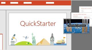 PowerPoint QuickStarter-funksjonen