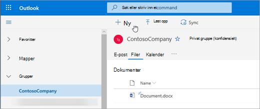 Vise filer under grupper