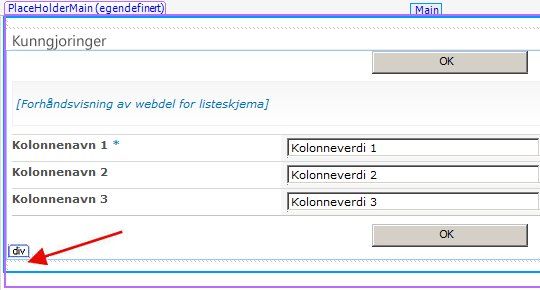 SharePoint Designer-skjemaer