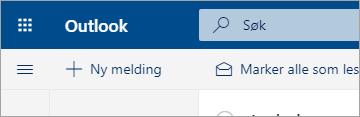 Et skjermbilde av den nye e-post-opplevelsen