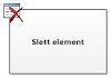Slett element