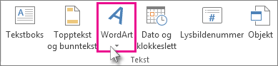 Klikke for å legge til WordArt