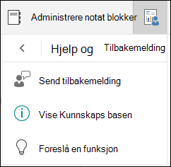 Behandle alternativer for notat blokk utvalg