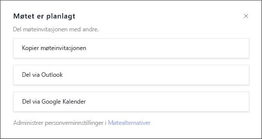 Møtet er planlagt på skjermen