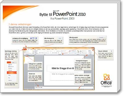 Miniatyrbilde av veiledningen for overgang til PowerPoint