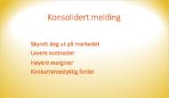 Eksempel på en lysbildebakgrunn som bruker en fargegradering