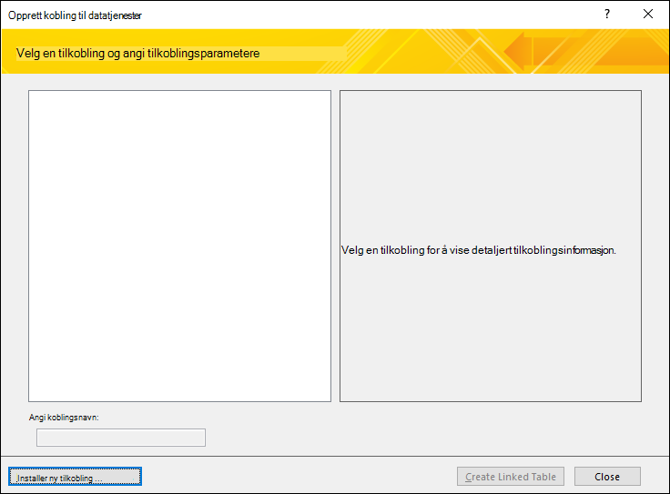 Installere en datatilkobling for webtjeneste