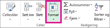 Klikk Format i kategorien Hjem