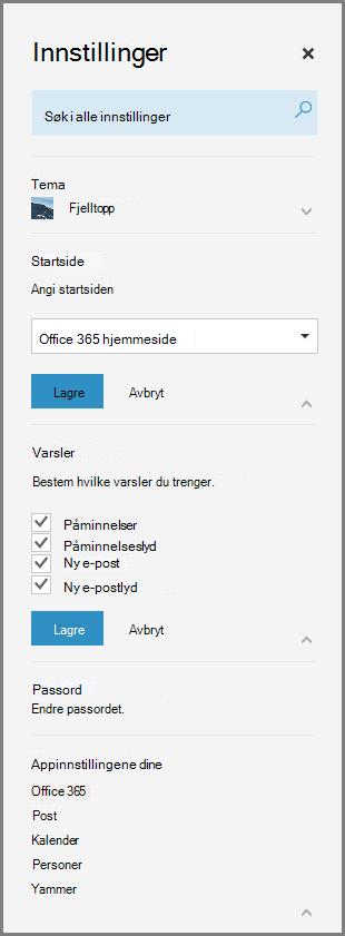 Office 365-varsler