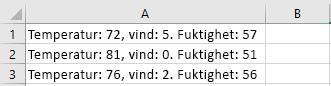 Celler i Excel
