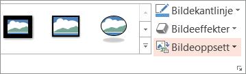 Viser Oppsett-knappen i kategorien Format
