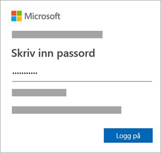 Skriv inn passordet.