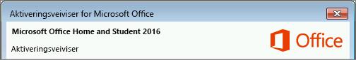 Viser versjonen av Office som vist i aktiveringsveiviseren.