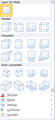 Alternativer for WordArt 3D-effekter i Publisher 2010