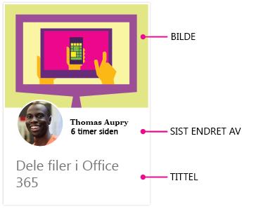 Innholdskort i Delve for Android