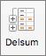 Klikk Delsum på Data-fanen