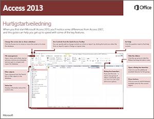 Hurtigstartveiledning for Access 2013